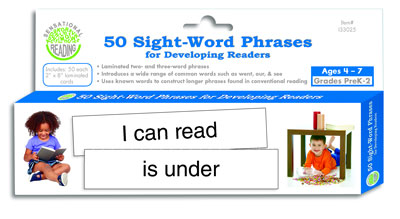Sensational Reading™ 50 Sight-Word Phrases