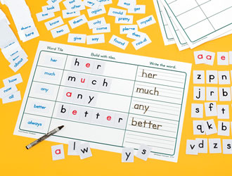 High Frequency Words Center